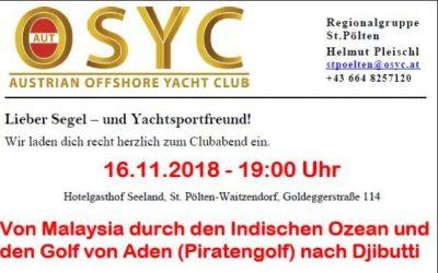 RG St. Pölten – Clubabend am 16.11.2018 🗓