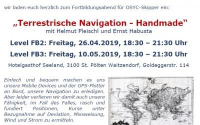 """RG St. Pölten – Fortbildungsabende """"Terrestrische Navigation – Handmade"""" für Skipper Level FB2 und FB3 🗓"""